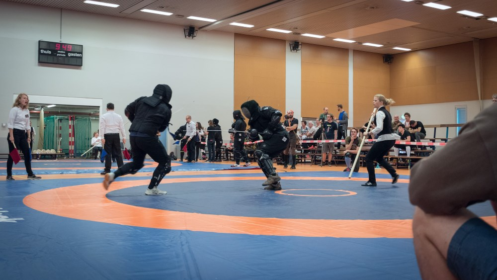 Fencer in action at DLC 2017